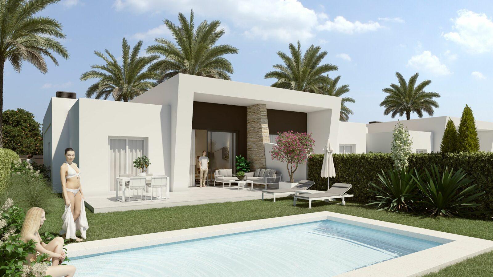NEW PROJECT Semi-Detached One Level Villas in La Finca Golf, Algorfa