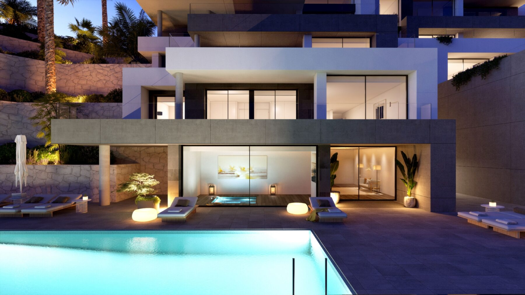 Amazing New Apartments With a Huge Terrace in La Sella, Denia
