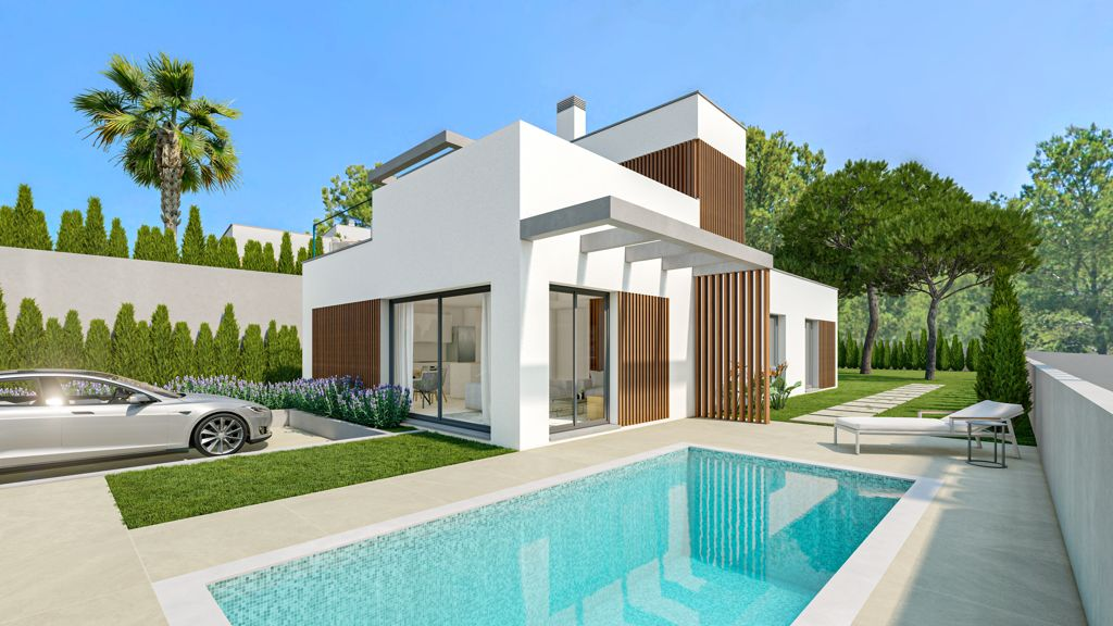 NEW PROJECT Detached Luxurious Elegant Villas with a Pool and Big Garden in Sierra Cortina, Finestrat